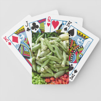 Vegetable Stand in Ghana Africa Bicycle Playing Cards
