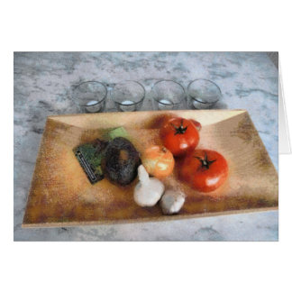 Vegetable Still Life Stationery Note Card