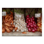 Vegetable - Sweet potatoes, Garlic, and Onions Greeting Cards