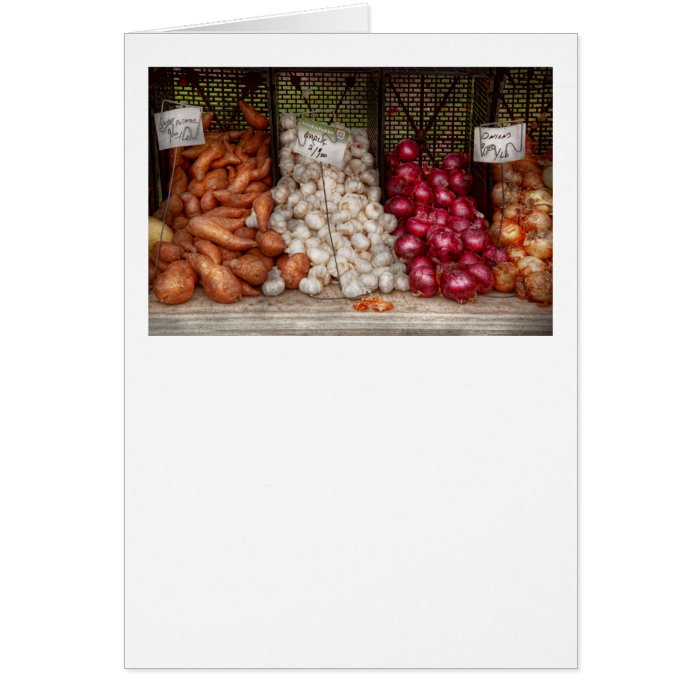 Vegetable - Sweet potatoes, Garlic, and Onions Card