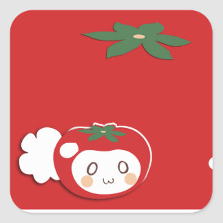 Vegetable tail square stickers
