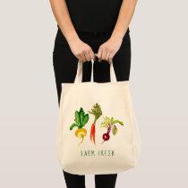 Vegetable Trio Farm Fresh Tote Bag