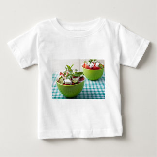 Vegetable vegetarian salad with raw tomato baby T-Shirt