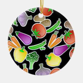 Vegetable Wallpaper Ceramic Ornament