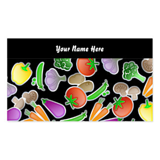 Vegetable Wallpaper, Your Name Here Double-Sided Standard Business Cards (Pack Of 100)