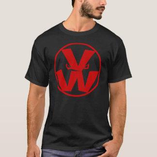 Vegetable Wars Logo in Black T-Shirt