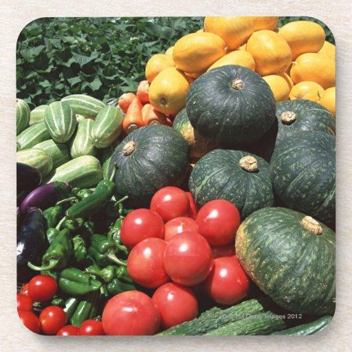 Vegetables 2 drink coasters