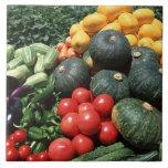 Vegetables 2 large square tile