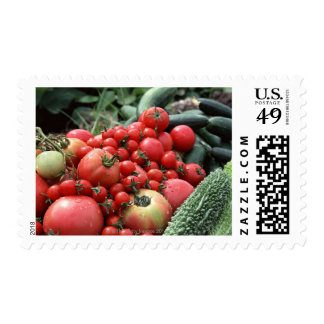 Vegetables 4 postage stamps