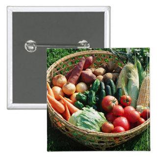 Vegetables 5 pinback button
