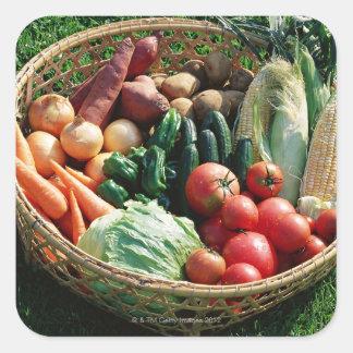 Vegetables 5 square sticker