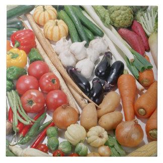 Vegetables 6 large square tile