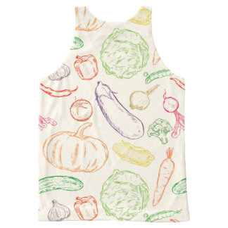 Vegetables All-Over Print Tank Top