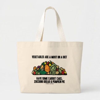 Vegetables Are A Must On A Diet (Pile of Veggies) Canvas Bag