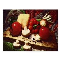 Vegetables at the Table by Shawna Mac Postcard