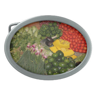 Vegetables Fresh Ripe Garden Mixed Harvest Market Belt Buckle