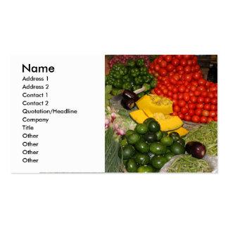 Vegetables Fresh Ripe Garden Mixed Harvest Market Business Card