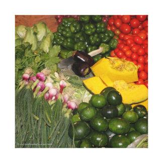 Vegetables Fresh Ripe Garden Mixed Harvest Market Canvas Print