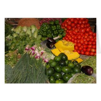 Vegetables Fresh Ripe Garden Mixed Harvest Market Card