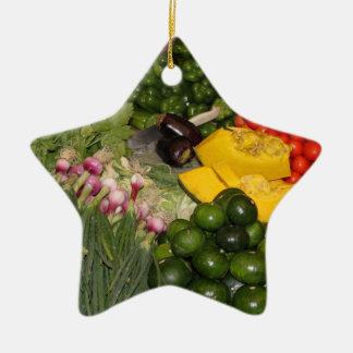 Vegetables Fresh Ripe Garden Mixed Harvest Market Ceramic Ornament