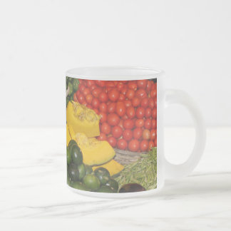 Vegetables Fresh Ripe Garden Mixed Harvest Market Frosted Glass Coffee Mug