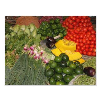 Vegetables Fresh Ripe Garden Mixed Harvest Market 4.25x5.5 Paper Invitation Card