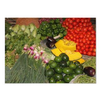 Vegetables Fresh Ripe Garden Mixed Harvest Market 4.5x6.25 Paper Invitation Card