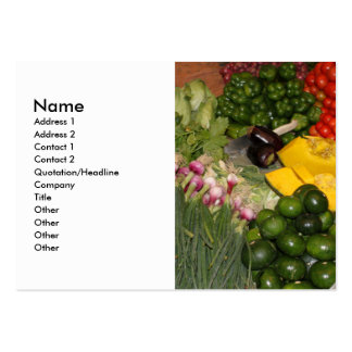 Vegetables Fresh Ripe Garden Mixed Harvest Market Large Business Card
