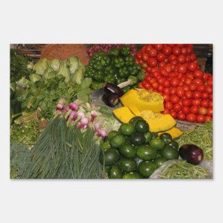 Vegetables Fresh Ripe Garden Mixed Harvest Market Lawn Sign