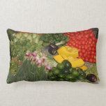 Vegetables Fresh Ripe Garden Mixed Harvest Market Lumbar Pillow