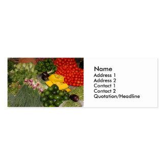 Vegetables Fresh Ripe Garden Mixed Harvest Market Mini Business Card
