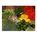 Vegetables Fresh Ripe Garden Mixed Harvest Market Postcard