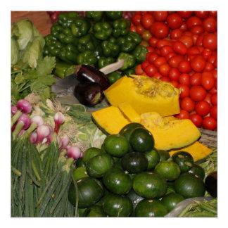 Vegetables Fresh Ripe Garden Mixed Harvest Market Poster