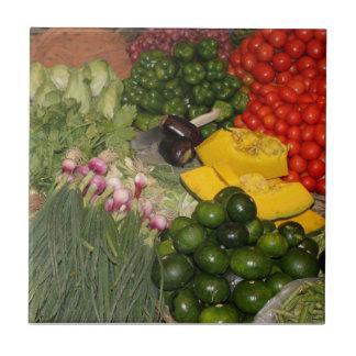 Vegetables Fresh Ripe Garden Mixed Harvest Market Small Square Tile