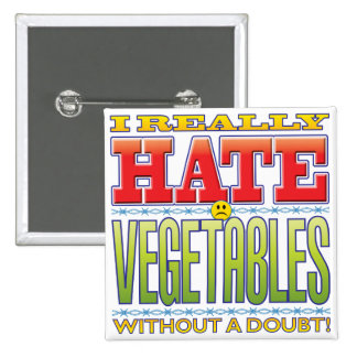 Vegetables Hate Face Pins