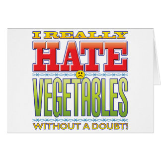 Vegetables Hate Face Cards