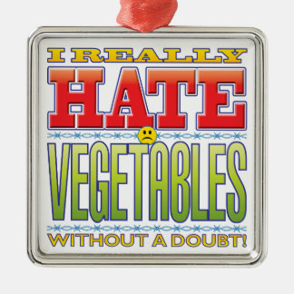 Vegetables Hate Face Christmas Ornaments