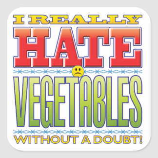 Vegetables Hate Face Stickers