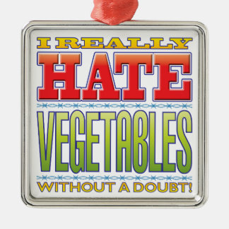 Vegetables Hate Christmas Ornament