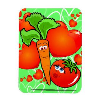 Vegetables in love, premium magnet