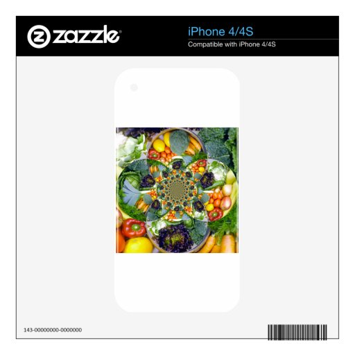 VEGETABLES iPhone 4S DECAL