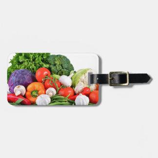 vegetables travel bag tags