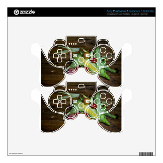 Vegetables on an old table. PS3 controller skin