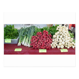 vegetables on table @ farmers market postcard
