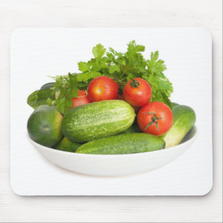 Vegetables on White Mouse Pad