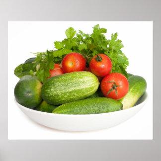Vegetables on White Poster