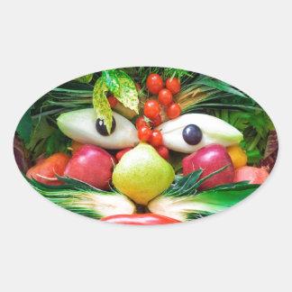 Vegetables Oval Sticker