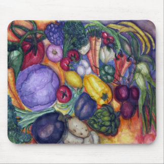 Vegetables painting mouse mat