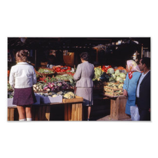 Vegetables, Produce Farmer's Market Fruit Veggies Photo Print