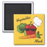 Vegetables Rock Fridge Magnets